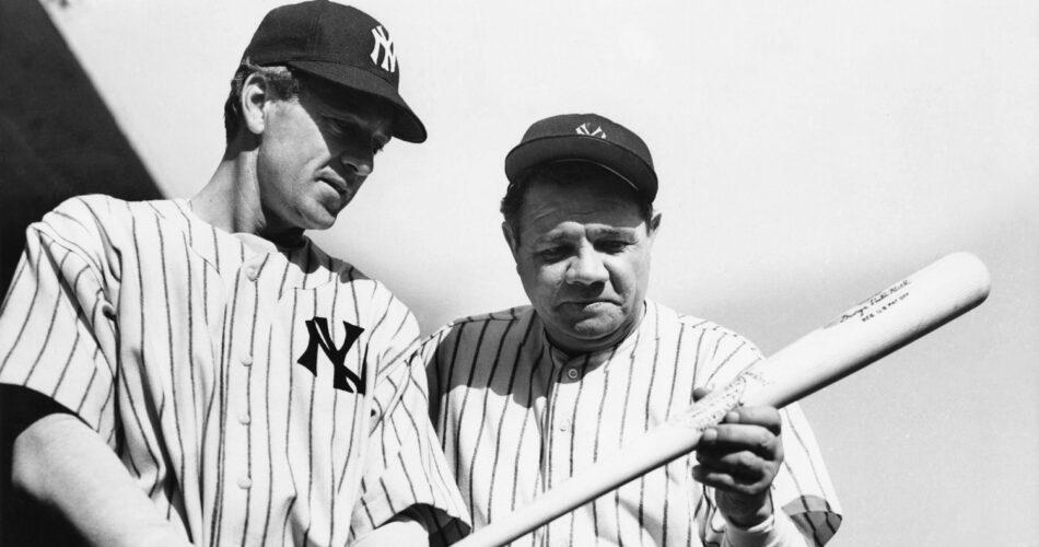 "Gary Cooper i Babe Ruth w filmie ""Duma Jankesów"" (reż. Sam Wood, 1942)"