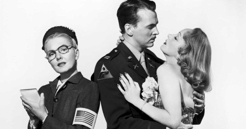 """Jean Arthur, John Lund i Marlene Dietrich w filmie """"Sprawy zagraniczne"""" (reż. Billy Wilder, 1948)"""