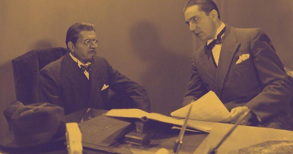 """Warner Baxter i Bela Lugosi w filmie """"Ci niebezpieczni mężczyźni"""" (reż. Kenneth Hawks, 1930)"""