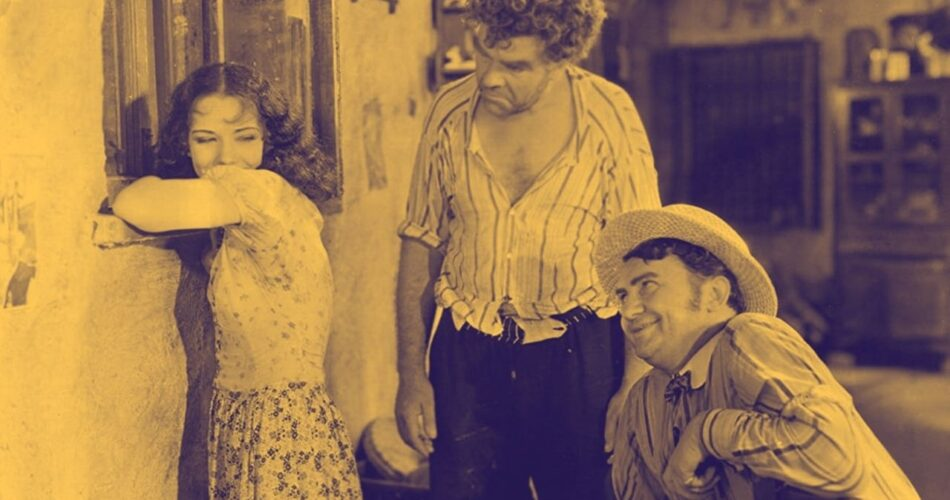"Lupe Vélez, Gibson Gowland i Jean Hersholt w filmie ""Hell Harbor"" (reż. Henry King, 1930)"