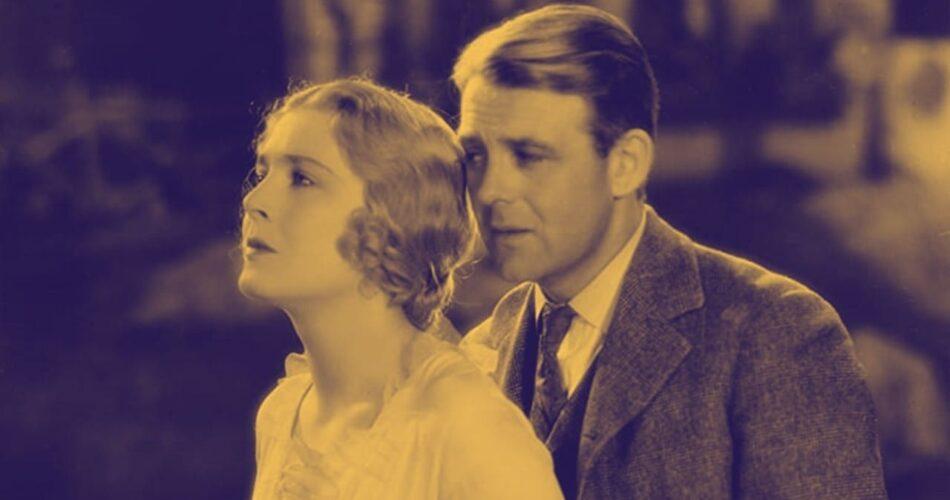 """Vilma Bánky i Robert Ames w filmie """"Kobieta do kochania"""" (reż. Victor Sjöström, 1930)"""
