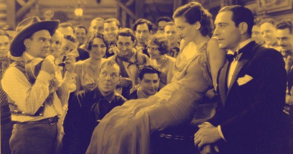 """Cliff Edwards, Joan Crawford i Ricardo Cortez w filmie """"Księżyc nad Montaną"""" (reż. Malcolm St. Clair, 1930)"""