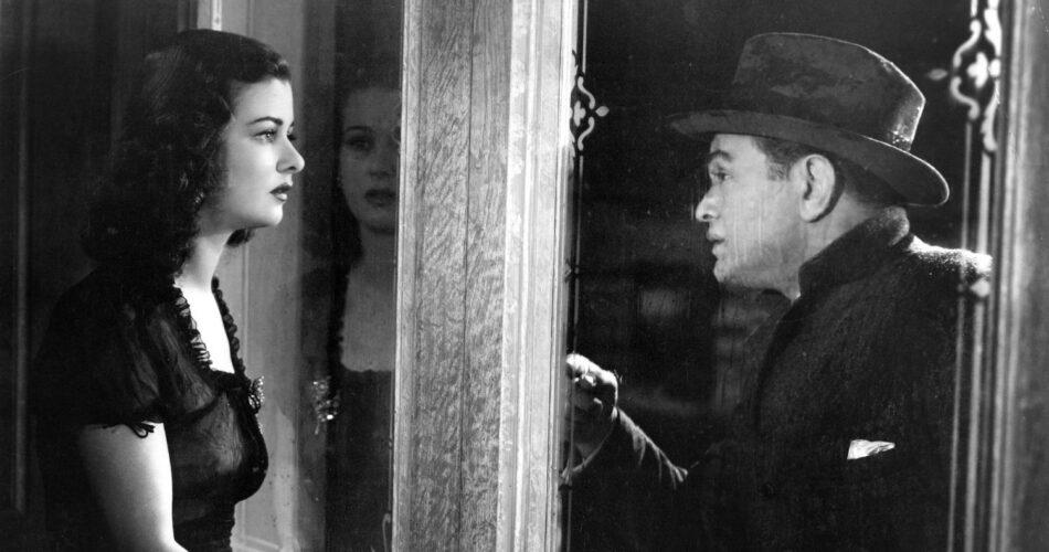"""Joan Bennett i Edward G. Robinson w filmie """"Kobieta w oknie"""" (reż. Fritz Lang, 1944)"""