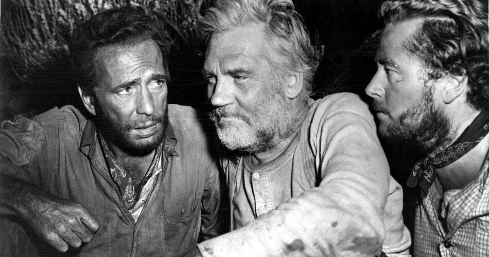 """Humphrey Bogart, Walter Huston i Tim Holt w filmie """"Skarb Sierra Madre"""" (reż. John Huston, 1948)"""