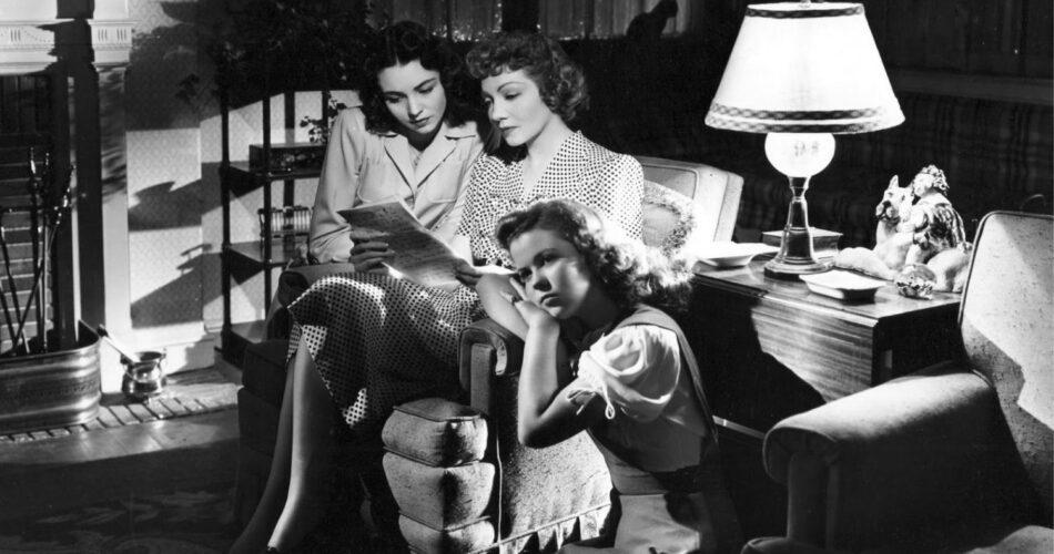 "Jennifer Jones, Claudette Colbert i Shirley Temple w filmie ""Od kiedy cię nie ma"" (reż. John Cromwell, 1944)"