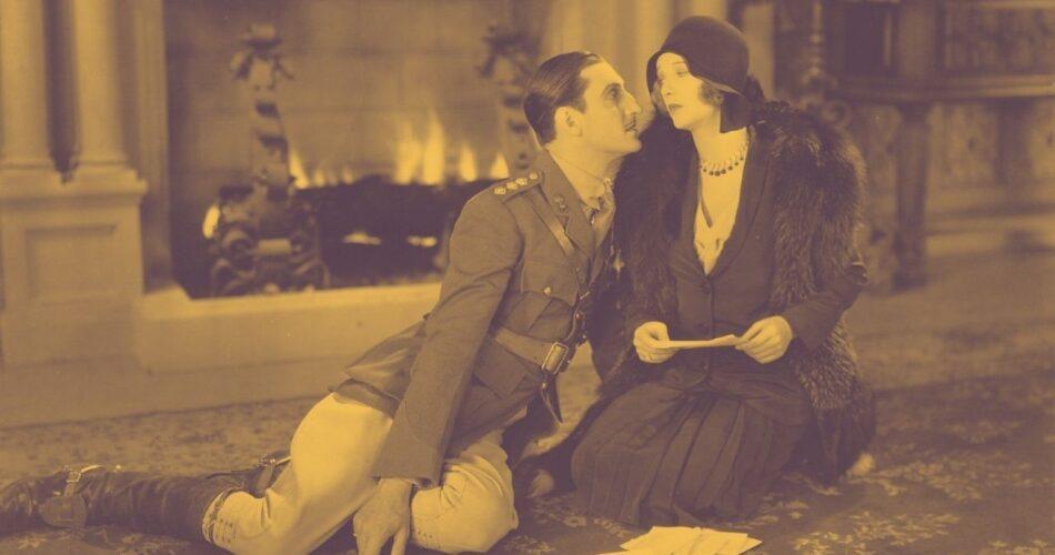 """Basil Rathbone i Dorothy Mackaill w filmie """"Flirtująca wdowa"""" (reż. William A. Seiter, 1930)"""