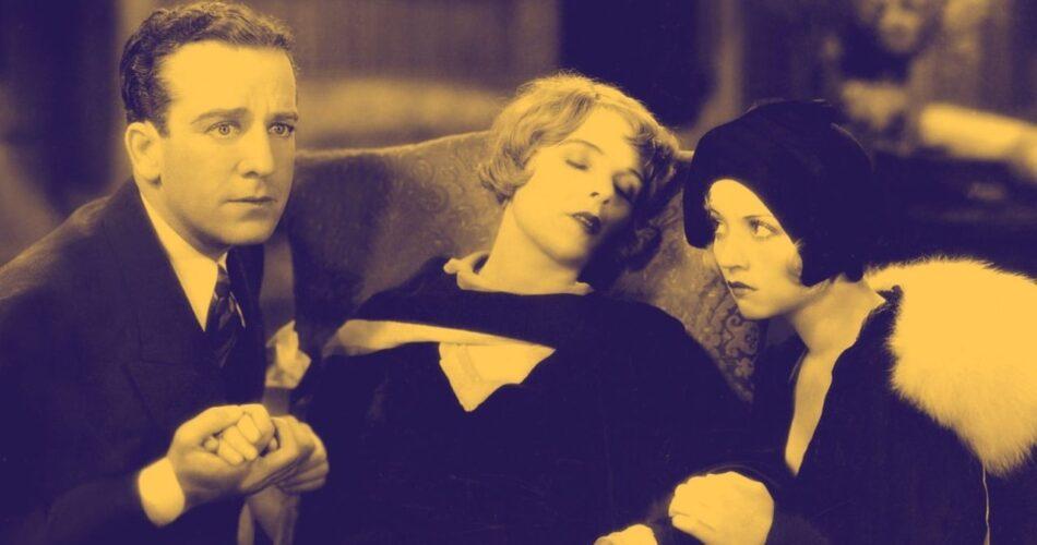 """Jack Mulhall, Blanche Sweet i Alice White w filmie """"Hollywoodzka rewia"""" (reż. Mervyn LeRoy, 1930)"""