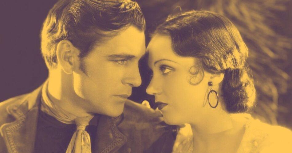 """Gary Cooper i Fay Wray w filmie """"Oszust z Teksasu"""" (reż. John Cromwell, 1930)"""