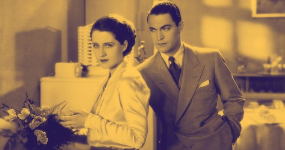 "Norma Shearer i Chester Morris w filmie ""Rozwódka"" (reż. Robert Z. Leonard, 1930)"
