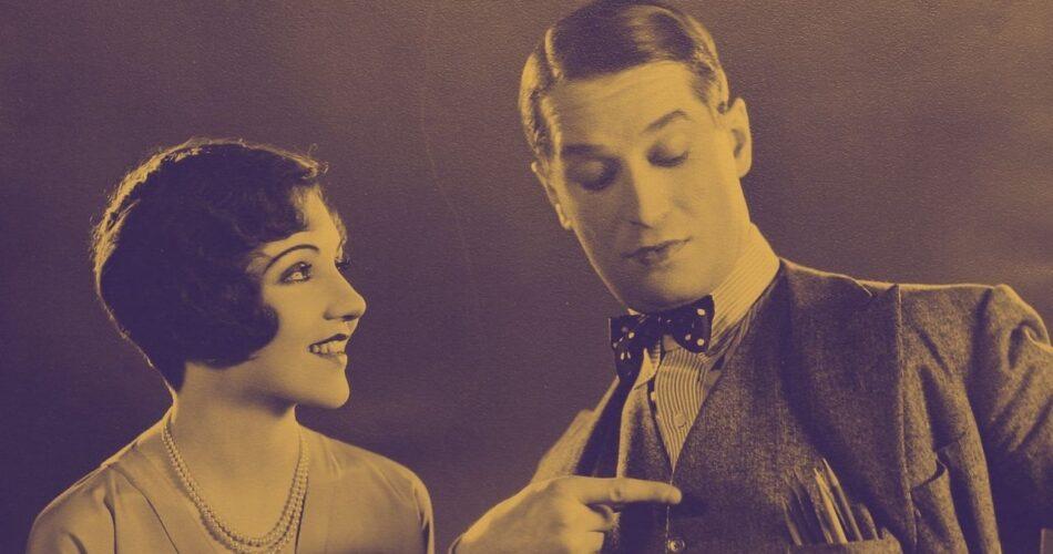 "Claudette Colbert i Maurice Chevalier w filmie ""Za wielką wodą"" (reż. Hobart Henley, 1930)"