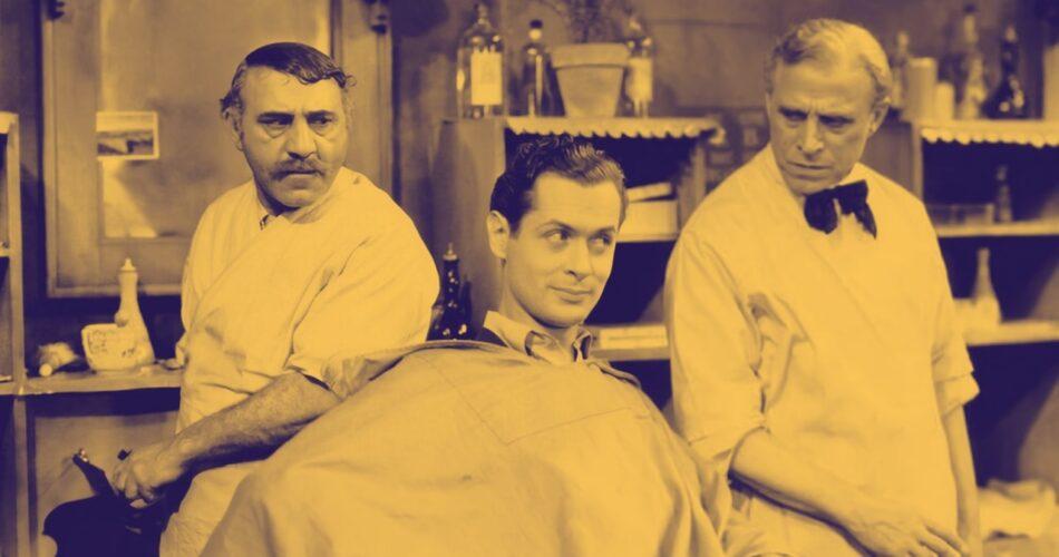 """Henry Armetta, Robert Montgomery i Louis Mann w filmie """"Grzechy naszych dzieci"""" (reż. Sam Wood, 1930)"""