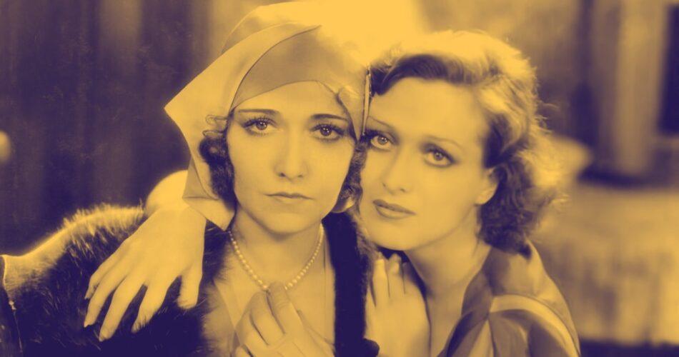 """Dorothy Sebastian i Joan Crawford w filmie """"Panny młode w rumieńcach"""" (reż. Harry Beaumont, 1930)"""