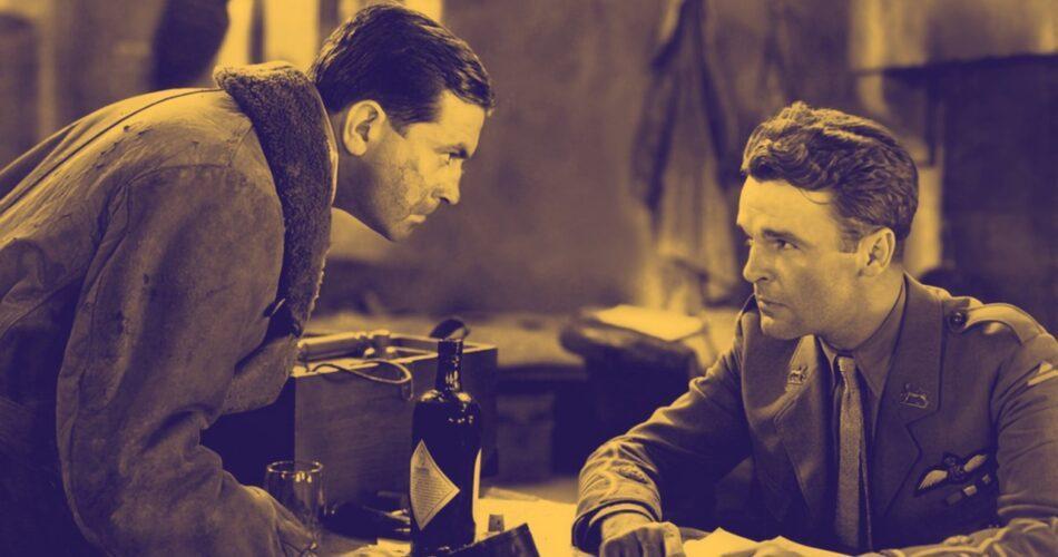 """Richard Barthelmess i Neil Hamilton w filmie """"Patrol bohaterów"""" (reż. Howard Hawks, 1930)"""