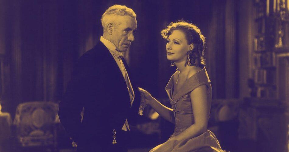 "Lewis Stone i Greta Garbo w filmie ""Romans"" (reż. Clarence Brown, 1930)"