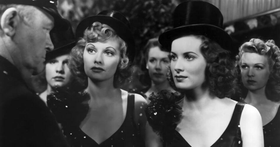 """Lucille Ball i Maureen O'Hara w filmie """"Tańcz, dziewczyno, tańcz"""" (reż. Dorothy Arzner, 1940)"""